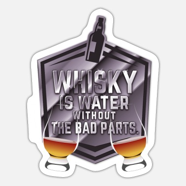 Glas Whisky is water, Nosing Glas - Sticker