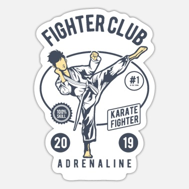 Fighter Fighter Club - Sticker