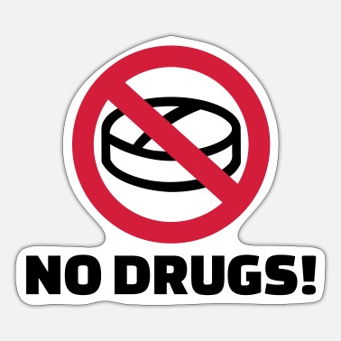 Drugs Geen drugs - Sticker