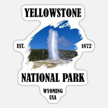 Geysir Yellowstone Nationalpark Wyoming USA Geysir - Sticker