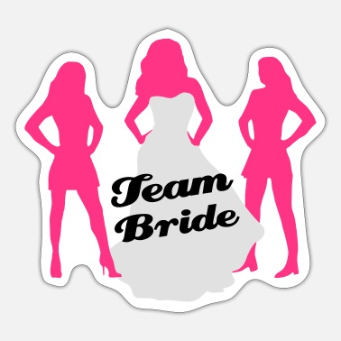 Team Bride, hen party, bachelorette party - Adesivo