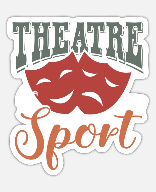 Artist Stickers - Theater actor actress stage mask - Sticker white mat