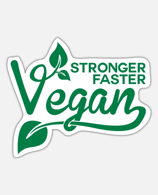 Nature Stickers - Stronger, Faster, Vegan - Sticker white matte