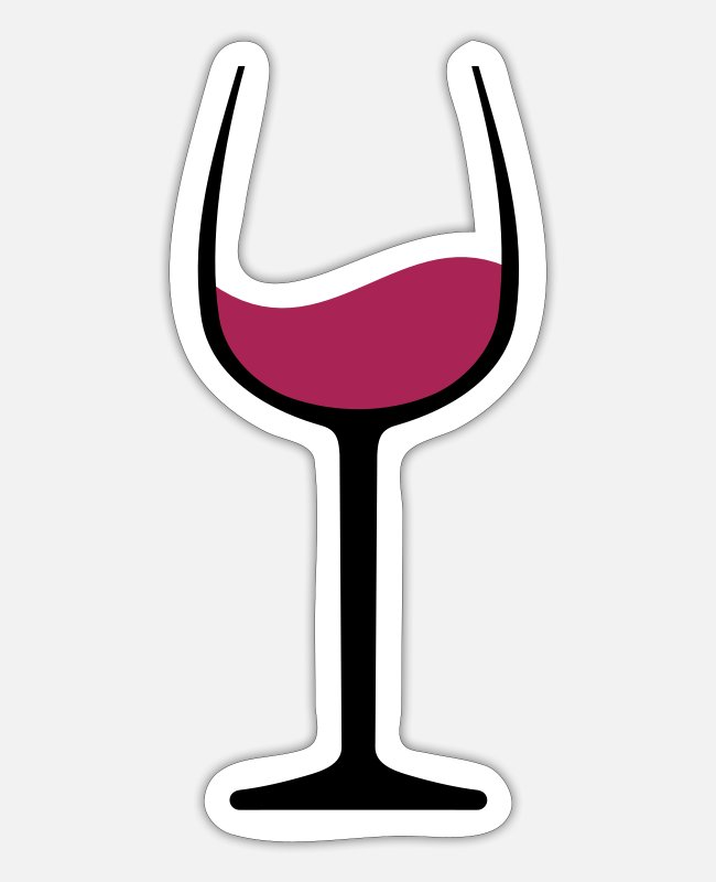 Red Stickers - Wine - Sticker white matte