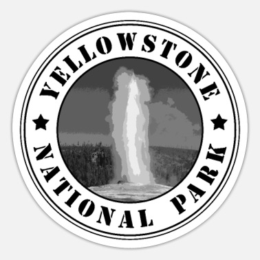 Geysir Yellowstone Nationalpark Geysir Wyoming USA - Sticker