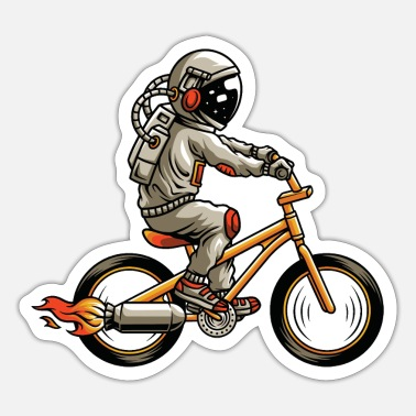 Rocket Engine Astronaut rocket engine bike biker - Sticker
