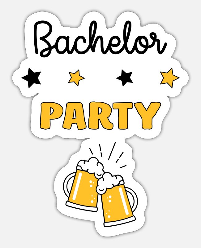 Drug Stickers - Bachelor Party EVG Stag Party Wedding - Marriage - Sticker white mat