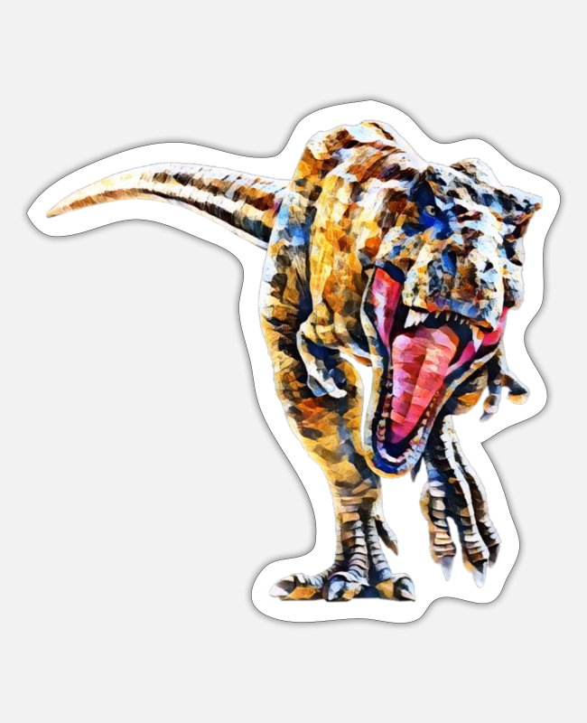 Motive Stickers - Tyrannosaurus Rex - Sticker white mat
