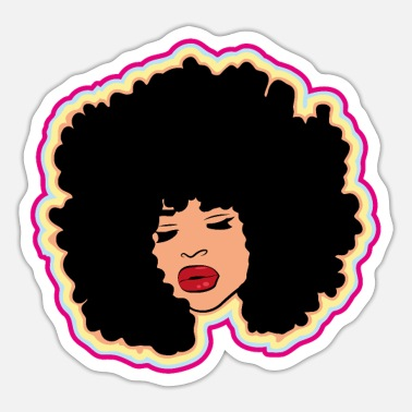 Afro Afro Afro-Amerikaan - Sticker