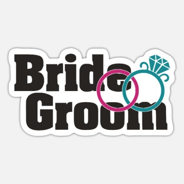 Bride And Groom Bride groom - Sticker