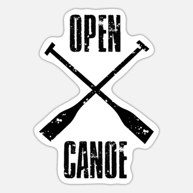Open Canoe open canoe - Sticker