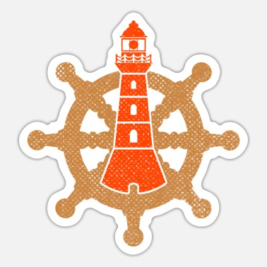 Low German Low German North German Lighthouse Rudder - Sticker