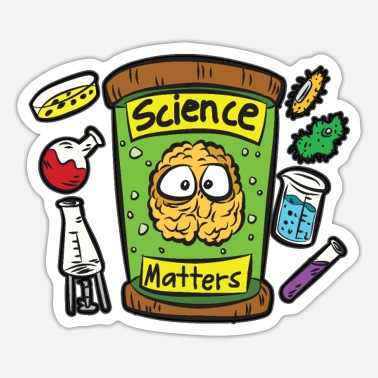 Research SCIENCE MATTERS Researchers Researching Science - Sticker