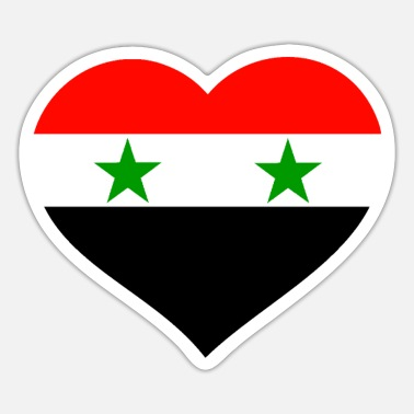Syria Syria heart on the chest Syria flag Syria - Sticker