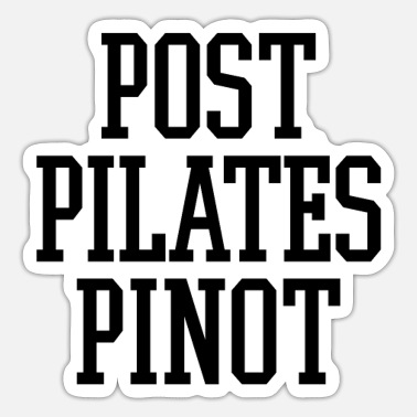Pinot Post Pilates Pinot Party Workout Gift - Sticker