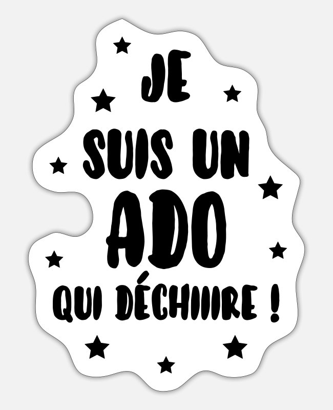 Fancy Stickers - Ado - Adolescent - Adolescente - Famille - Jeune - Sticker white matte
