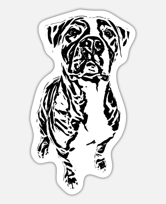 Motive Stickers - Mastiff - Sticker white matte
