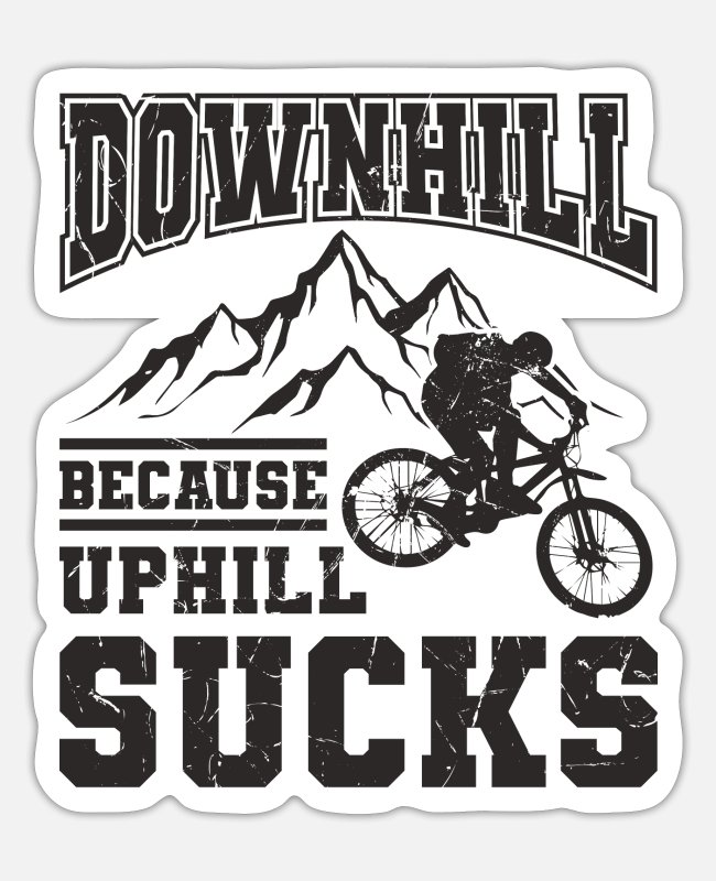 Downhill Sticker - Downhill - Sticker Mattweiß
