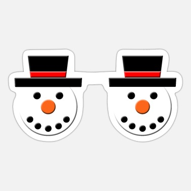 Brustwarzen snowman schneemann tits titten brust breast nipple - Sticker