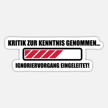 Kritik Kritik Ignoranz - Sticker