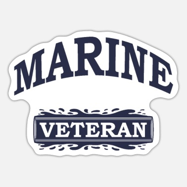 Marinen Marine veteran - Sticker