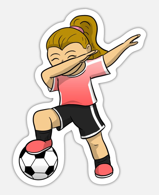 Footballer Stickers - Soccer Girl Soccer Player Soccer Girl - Sticker white mat