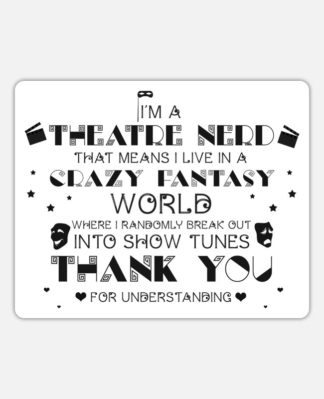 Stage Technician Stickers - Theater nerdy - Sticker white mat
