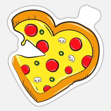 Partner Cardio pizza fastfood - salami partner skjorte - Sticker