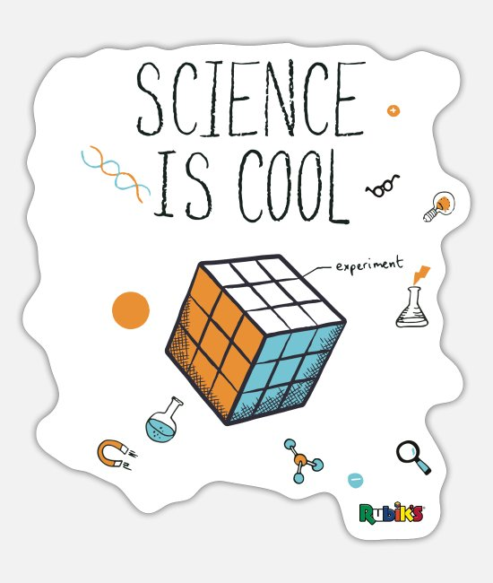 Speedsolving Stickers - Rubik's Cube Science Is Cool - Sticker mat wit