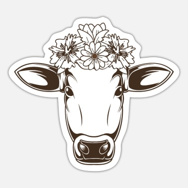 Dairy Farmer Dairy farmer dairy farmer milking decorated cow - Sticker