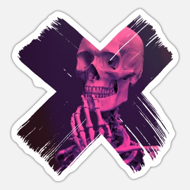 Skull And Crossbones skull and crossbones - Sticker