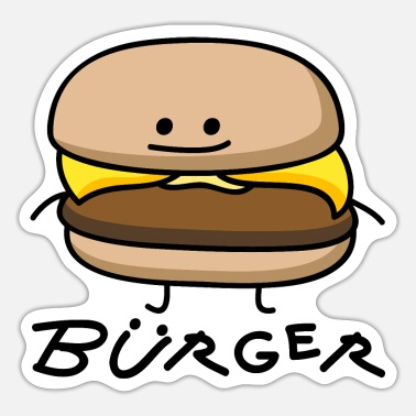 Burger Burger als Bürger - Sticker