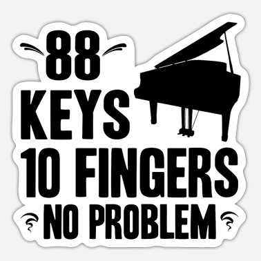 Piano Piano - Sticker
