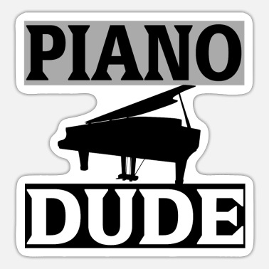 Melodiemessen Piano - Sticker