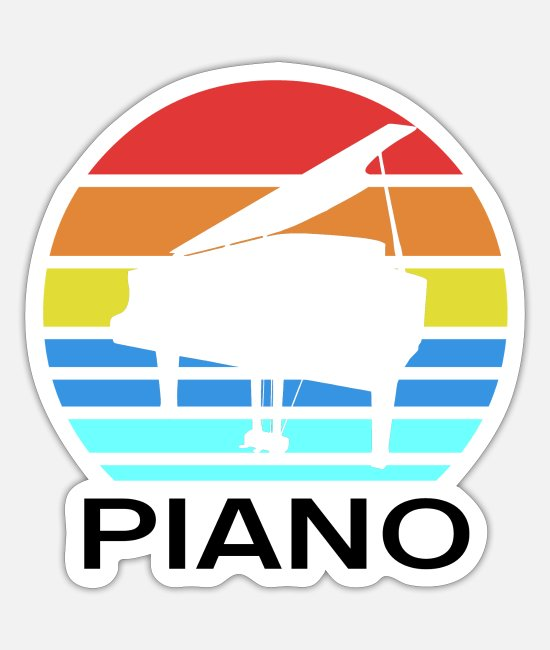 Gift Stickers - Piano - Sticker mat wit