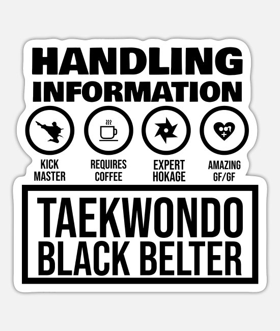 Martial Arts Stickers - Taekkyeon - Sticker white mat