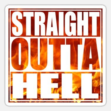 From Hell straight outta hell - straight from hell - Sticker