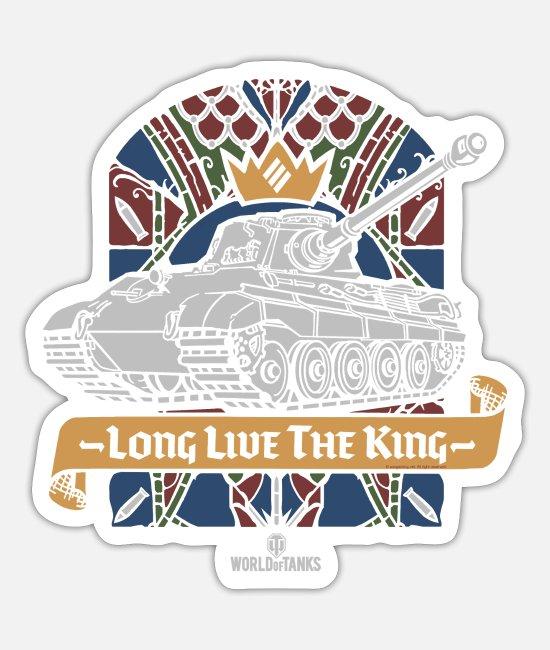 Wargaming Stickers - World of Tanks Long Live The King - Sticker white mat