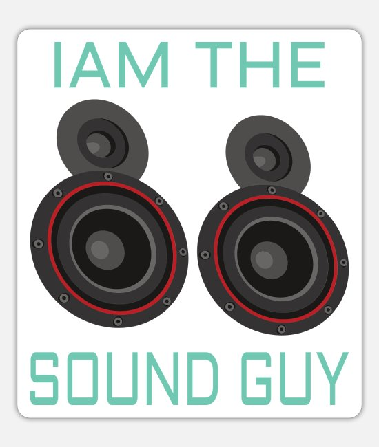 Bass Stickers - AUDIOLOGIST / CAR STEREO: Iam the Sound Guy - Sticker white mat