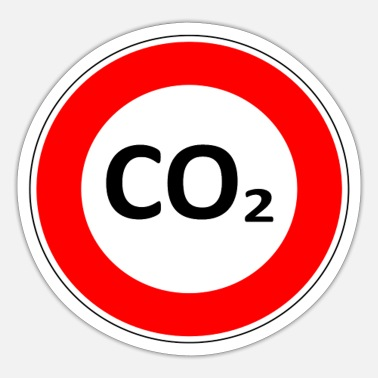 Co2 CO2 sign - Sticker