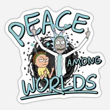 Officialbrands Rick & Morty Peace Among Worlds - Sticker