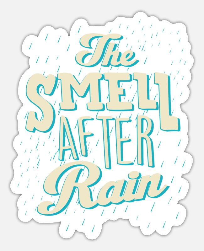 Weather Stickers - rain - Sticker white mat