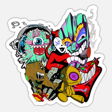 Monster Party monster - Sticker