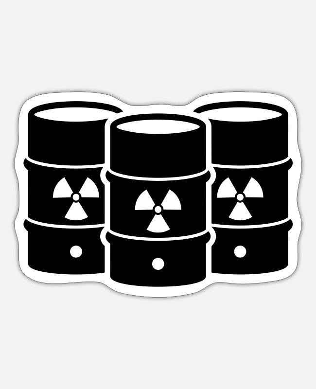 Pollution Stickers - nuclear waste - Sticker white mat