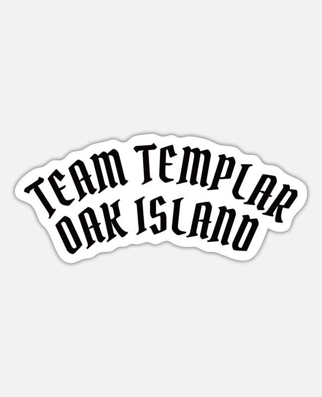 Canada Stickers - OAK ISLAND / TREASURE HUNTING: Team Templar - Sticker white matte