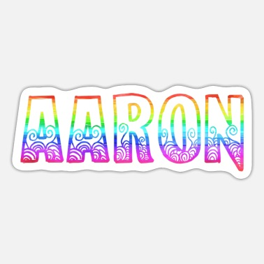 Aarón aaron rs rainbow - Sticker