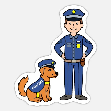 Police Dog Police officer and police dog - Sticker