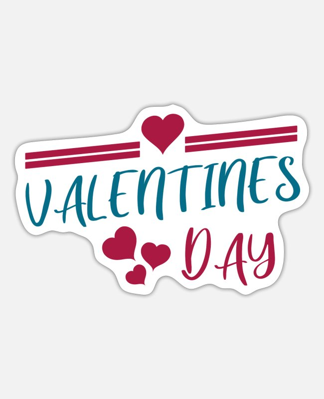 Heart Stickers - Valentine's Day - Sticker white matte