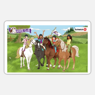 Schleich Horseclub Lisa Sarah Sofia Hannah lunch box - Sticker
