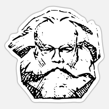 Marx Karl Marx BLACK - Sticker
